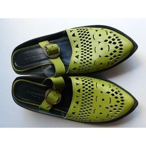 Clegerie paris green leather mules
